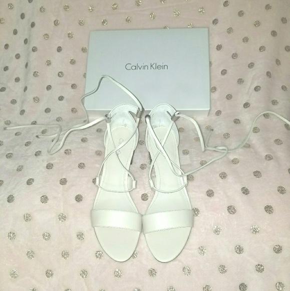3253667febd Calvin Klein natania lace up block heel